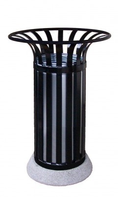 Free Standing Dustbin With Concrete Basis 40l